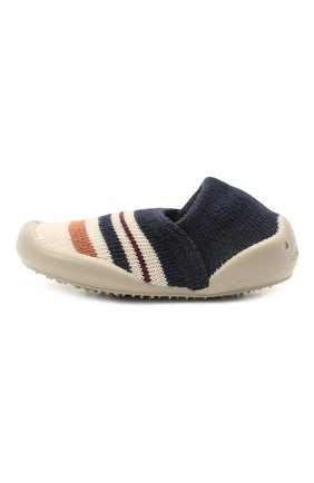 Детского домашние туфли COLLEGIEN синего цвета, арт. 112F/18-35 | Фото 2 (Материал внешний: Текстиль; Материал внутренний: Текстиль; Кросс-КТ: слиперы)