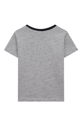 Детский хлопковая футболка TARTINE ET CHOCOLAT темно-синего цвета, арт. TS10051/18M-3A | Фото 2