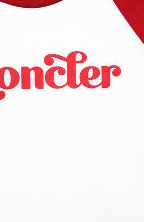 Детского комплект из футболки и шорт MONCLER красного цвета, арт. G1-954-8M747-20-83907/4-6A | Фото 6 (Рукава: Короткие; Материал внешний: Хлопок; Мальчики Кросс-КТ: Костюмы-спорт; Ростовка одежда: 4 года | 104 см, 5 лет | 110 см, 6 лет | 116 см)