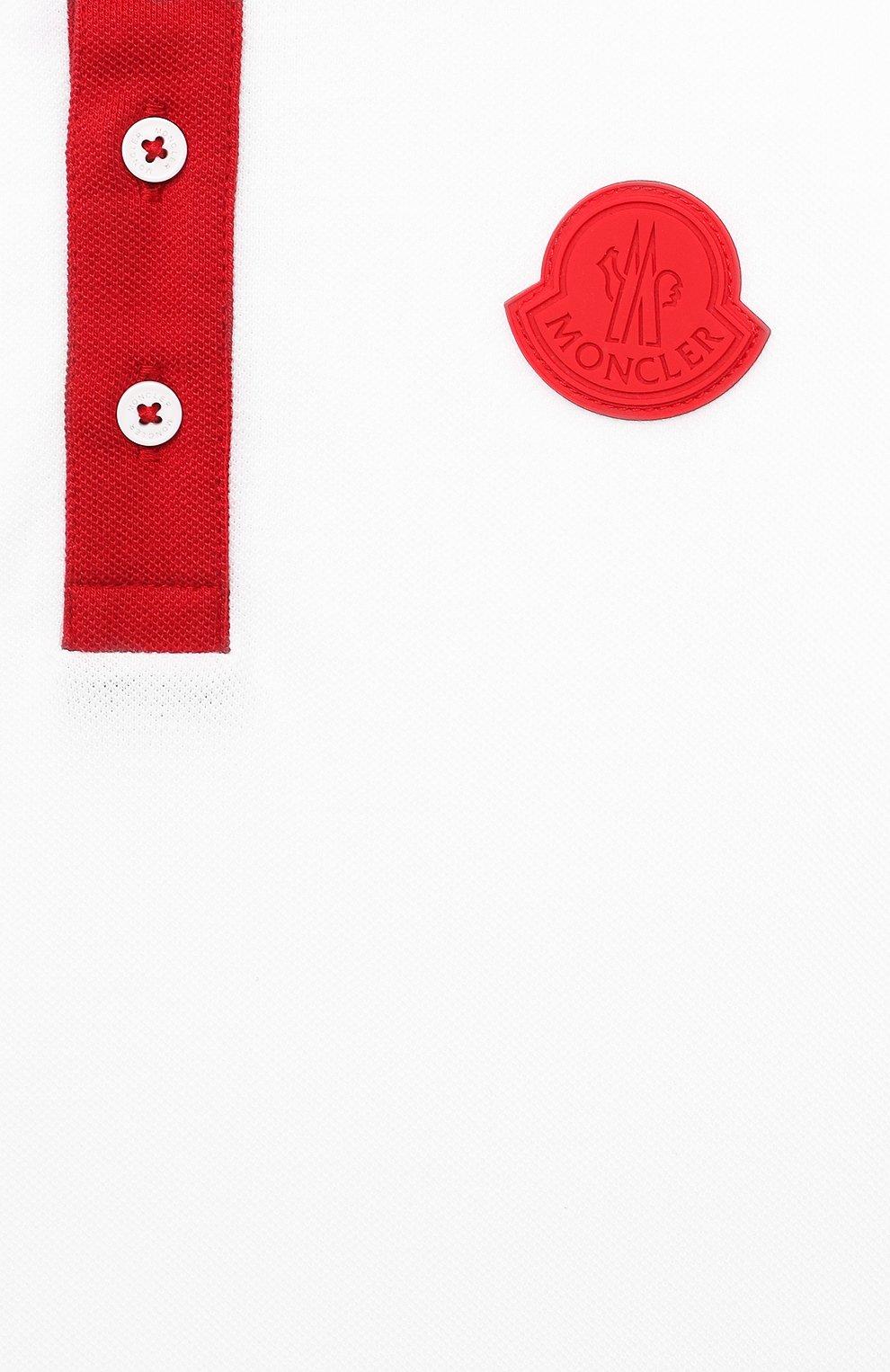 Детского комплект из поло и шорт MONCLER красного цвета, арт. G1-954-8M746-20-8496W/4-6A | Фото 6 (Рукава: Короткие; Материал внешний: Хлопок; Мальчики Кросс-КТ: Костюмы-спорт; Ростовка одежда: 4 года | 104 см, 5 лет | 110 см, 6 лет | 116 см)