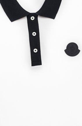 Детского комплект из поло и шорт MONCLER синего цвета, арт. G1-954-8M746-20-8496W/12-14A | Фото 6 (Рукава: Короткие; Материал внешний: Хлопок; Мальчики Кросс-КТ: Костюмы-спорт; Ростовка одежда: 12 лет | 152 см, 16 лет | 164 см)