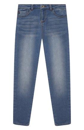 Детские джинсы MOSCHINO синего цвета, арт. HUP04F/LDE08/10A-14A   Фото 1
