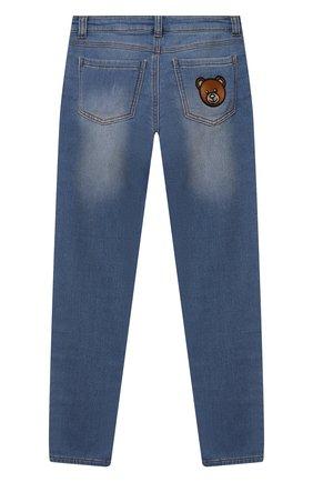 Детские джинсы MOSCHINO синего цвета, арт. HUP04F/LDE08/10A-14A   Фото 2