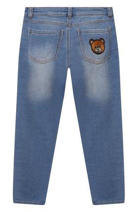 Детские джинсы MOSCHINO синего цвета, арт. HUP04F/LDE08/4A-8A   Фото 2