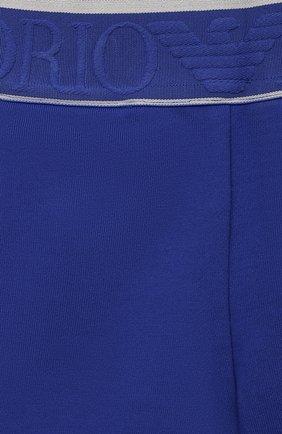 Детские хлопковые шорты EMPORIO ARMANI синего цвета, арт. 3KHS06/4JHXZ | Фото 3
