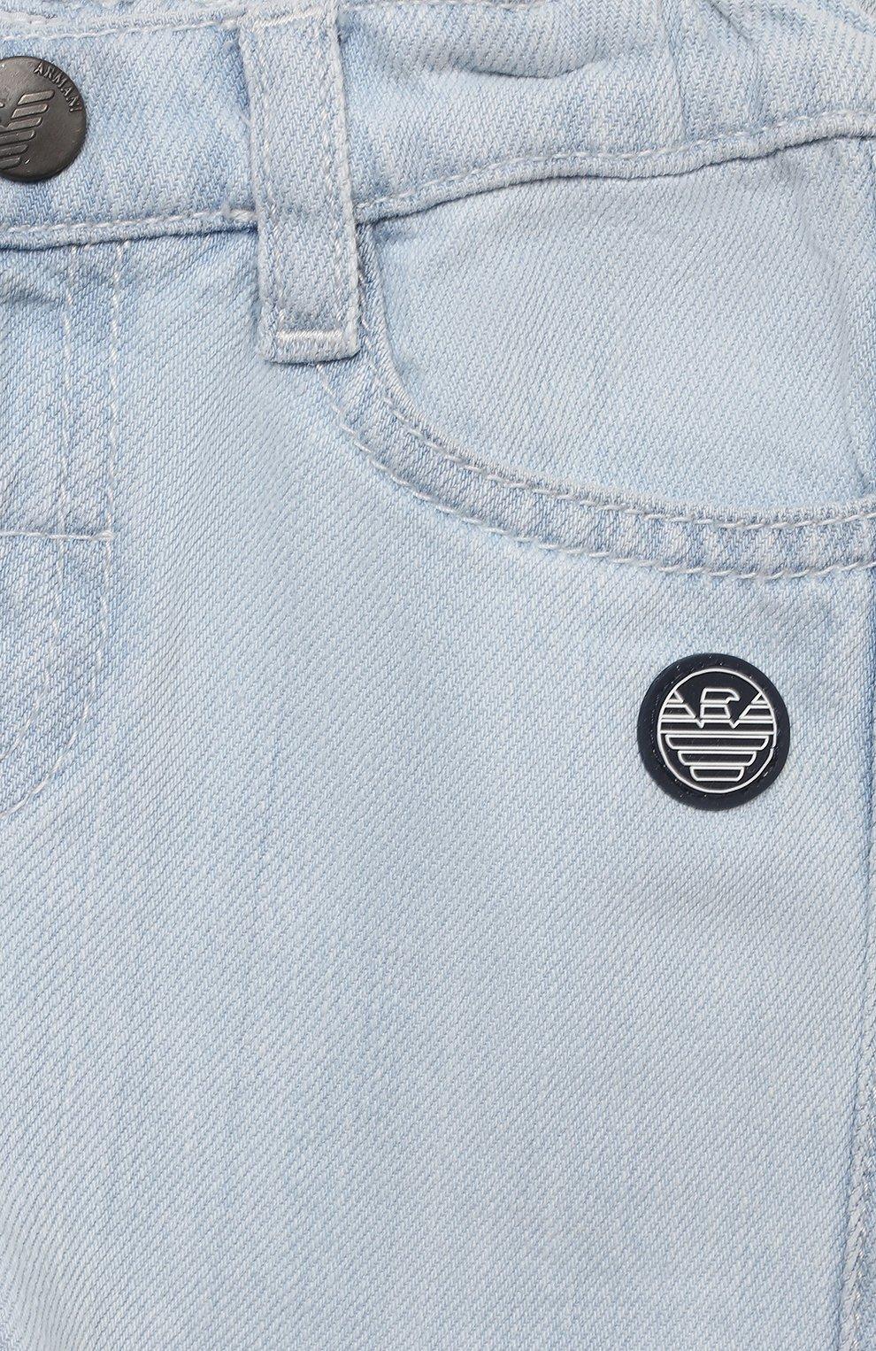 Детские джинсы EMPORIO ARMANI голубого цвета, арт. 3KHJ06/4D2KZ | Фото 3