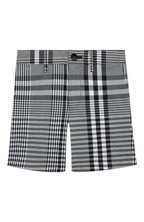 Детские хлопковые шорты BURBERRY черного цвета, арт. 8038346 | Фото 1