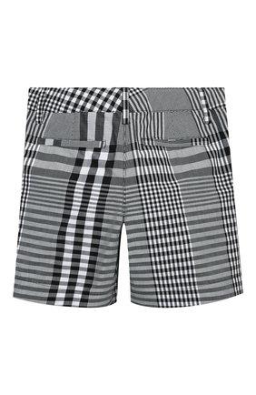 Детские хлопковые шорты BURBERRY черного цвета, арт. 8038346 | Фото 2
