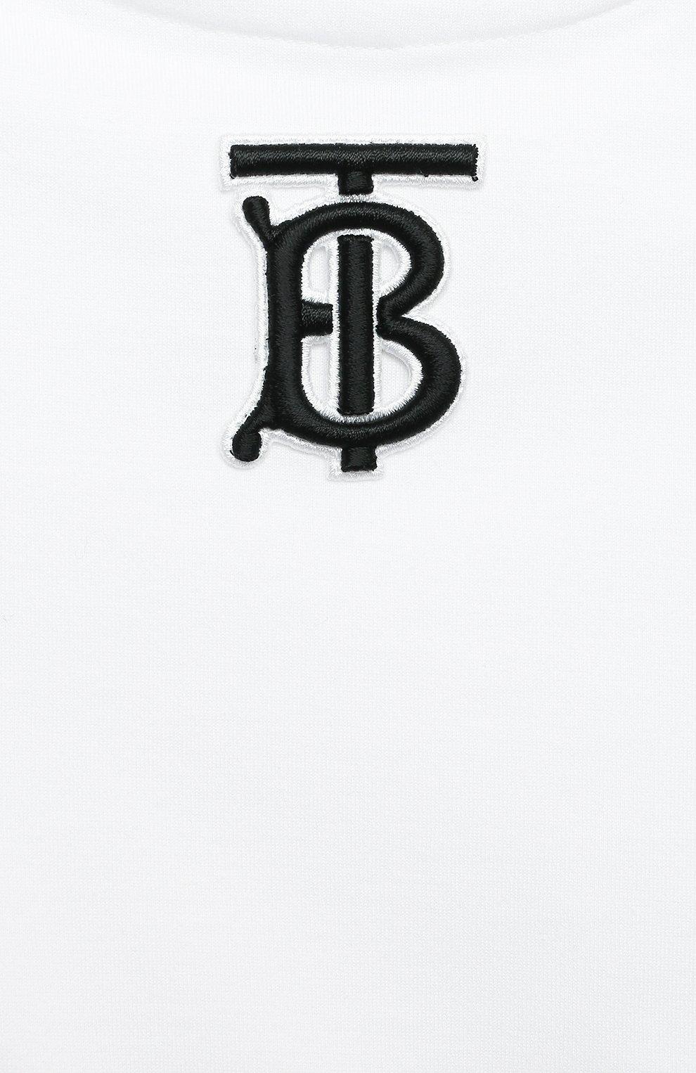 Детский хлопковый комбинезон BURBERRY бежевого цвета, арт. 8038174   Фото 3