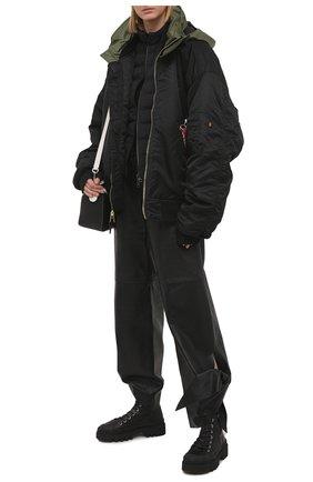 Женская пуховая куртка kaitos MONCLER черного цвета, арт. G1-093-1A54N-40-53132 | Фото 2