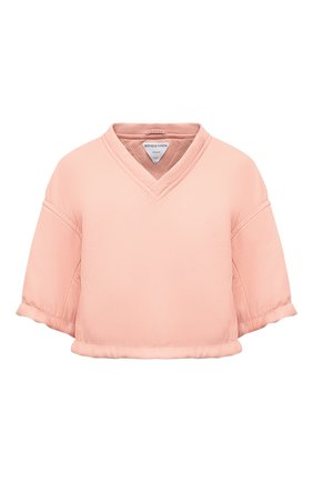 Женский кожаный топ BOTTEGA VENETA светло-розового цвета, арт. 660501/V0Q60 | Фото 1