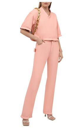 Женский кожаный топ BOTTEGA VENETA светло-розового цвета, арт. 660501/V0Q60 | Фото 2