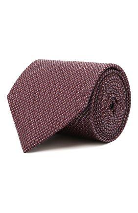 Мужской шелковый галстук BRIONI бордового цвета, арт. 062H00/P0477   Фото 1