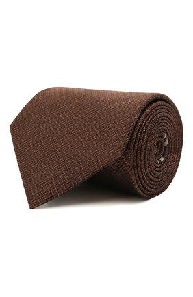 Мужской шелковый галстук BRIONI светло-коричневого цвета, арт. 062H00/P0484 | Фото 1