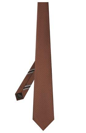 Мужской шелковый галстук BRIONI светло-коричневого цвета, арт. 062H00/P0484 | Фото 2