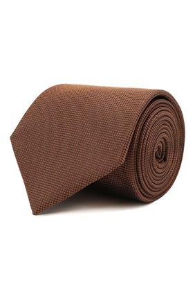 Мужской шелковый галстук BRIONI коричневого цвета, арт. 062I00/09459 | Фото 1