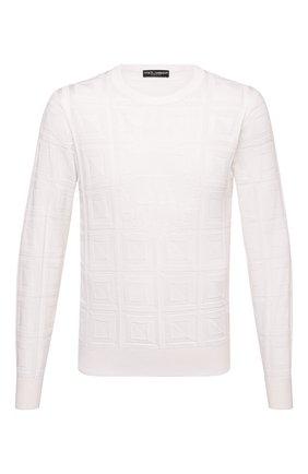 Мужской шелковый джемпер DOLCE & GABBANA белого цвета, арт. GXA63T/JASLP | Фото 1