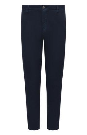 Мужские хлопковые брюки DOLCE & GABBANA темно-синего цвета, арт. GY6FET/G8BQ0 | Фото 1