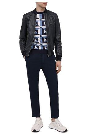 Мужские хлопковые брюки DOLCE & GABBANA темно-синего цвета, арт. GY6FET/G8BQ0 | Фото 2