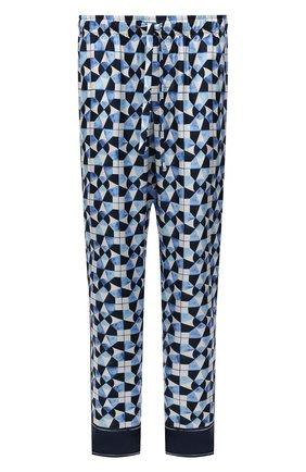 Мужские шелковые домашние брюки DOLCE & GABBANA синего цвета, арт. GYB0HT/FI1VB | Фото 1
