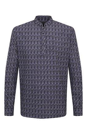 Мужская хлопковая рубашка GIORGIO ARMANI темно-синего цвета, арт. 1SGCCZ50/TZ876 | Фото 1