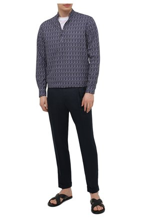 Мужская хлопковая рубашка GIORGIO ARMANI темно-синего цвета, арт. 1SGCCZ50/TZ876 | Фото 2