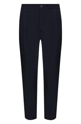 Мужские брюки из вискозы и льна GIORGIO ARMANI темно-синего цвета, арт. 1SGPP0HN/T00RJ | Фото 1