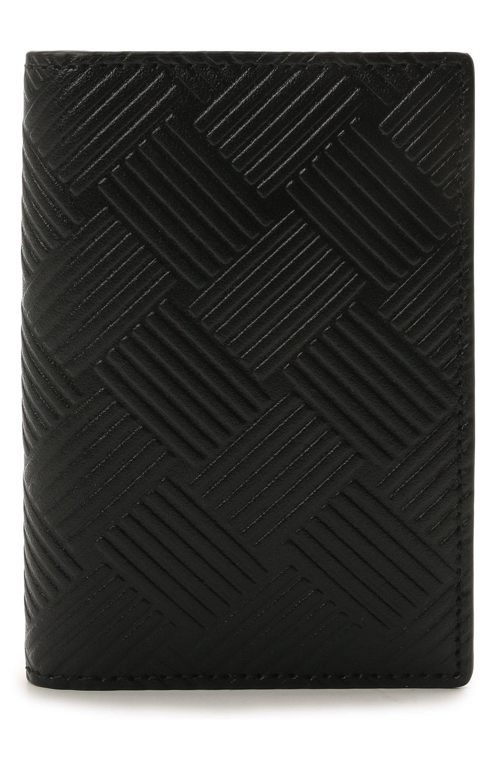 Мужской кожаный футляр для кредитных карт BOTTEGA VENETA черного цвета, арт. 592619/V0SQ1 | Фото 1