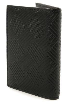 Мужской кожаный футляр для кредитных карт BOTTEGA VENETA черного цвета, арт. 592619/V0SQ1 | Фото 2