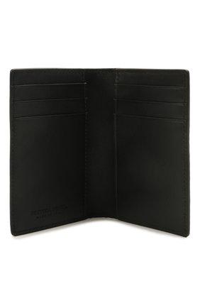 Мужской кожаный футляр для кредитных карт BOTTEGA VENETA черного цвета, арт. 592619/V0SQ1 | Фото 3