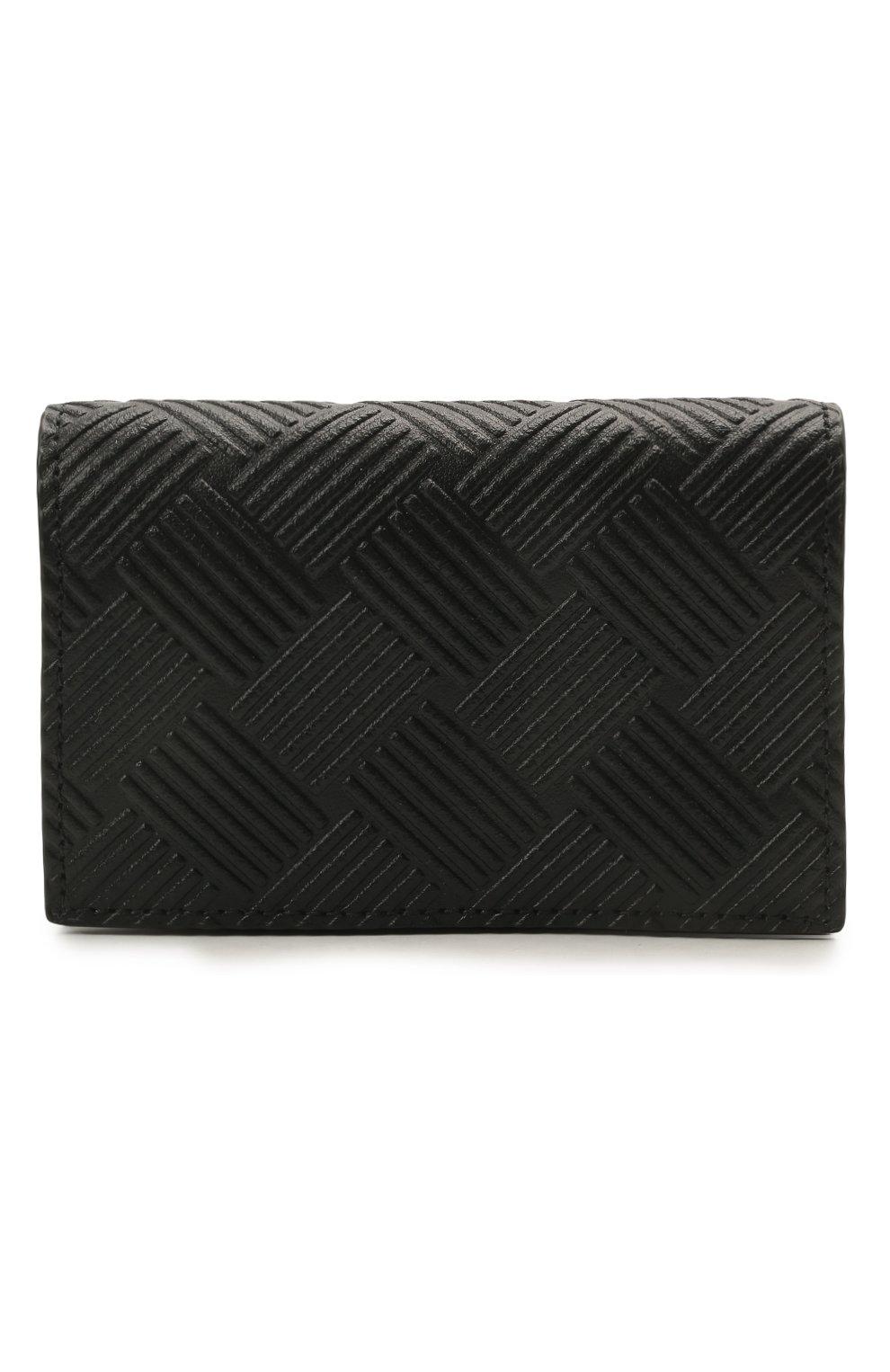 Мужской кожаный футляр для кредитных карт BOTTEGA VENETA черного цвета, арт. 649879/V0SQ3   Фото 1