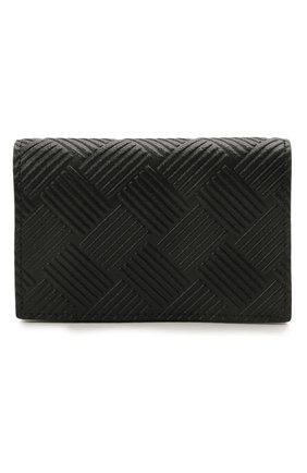Мужской кожаный футляр для кредитных карт BOTTEGA VENETA черного цвета, арт. 649879/V0SQ3 | Фото 1