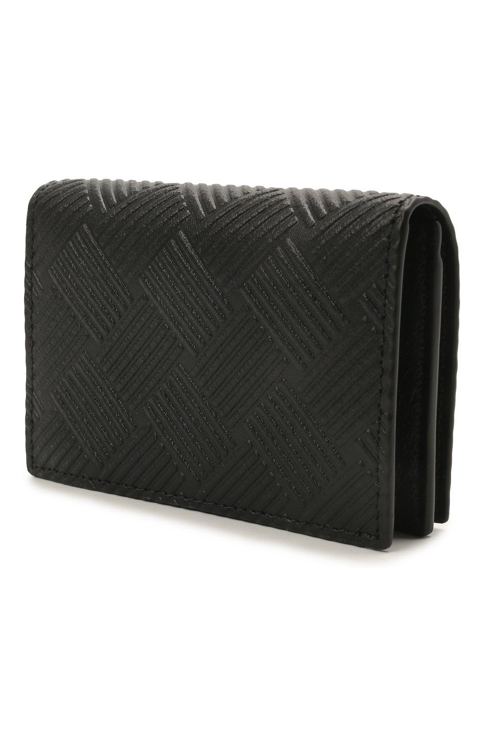 Мужской кожаный футляр для кредитных карт BOTTEGA VENETA черного цвета, арт. 649879/V0SQ3   Фото 2