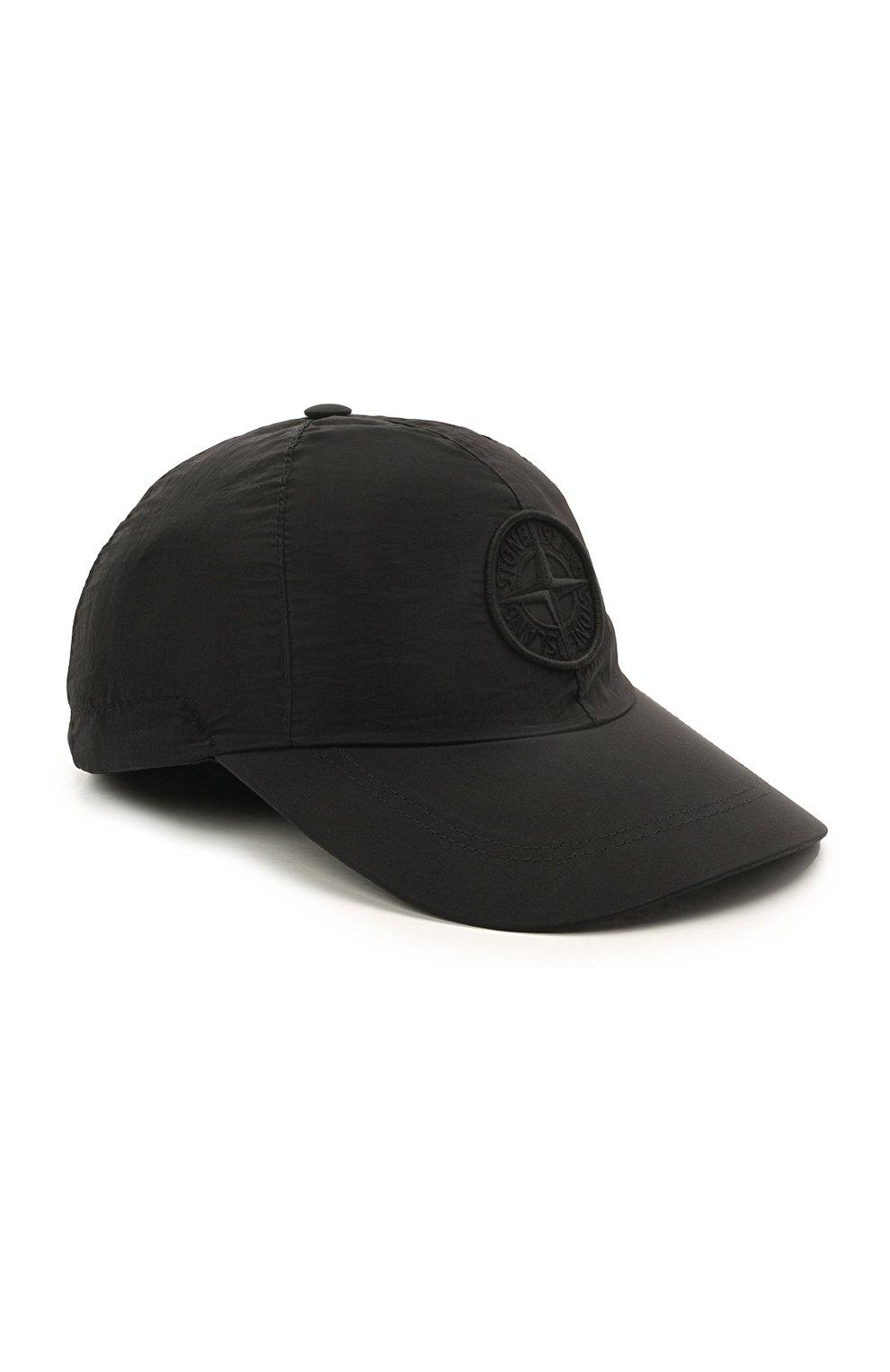 Мужской бейсболка STONE ISLAND черного цвета, арт. 741599576 | Фото 1