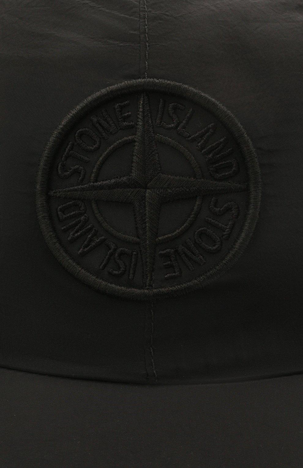 Мужской бейсболка STONE ISLAND черного цвета, арт. 741599576 | Фото 3