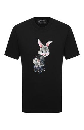 Мужская хлопковая футболка DOMREBEL черного цвета, арт. CHEEKS/T-SHIRT | Фото 1