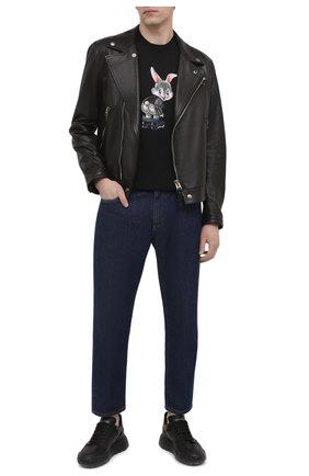 Мужская хлопковая футболка DOMREBEL черного цвета, арт. CHEEKS/T-SHIRT | Фото 2