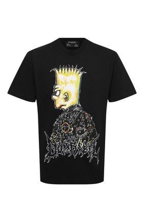 Мужская хлопковая футболка DOMREBEL черного цвета, арт. DUDE/T-SHIRT | Фото 1