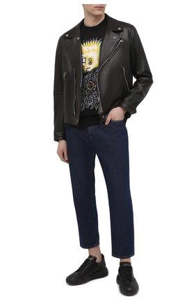 Мужская хлопковая футболка DOMREBEL черного цвета, арт. DUDE/T-SHIRT | Фото 2