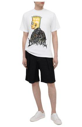 Мужская хлопковая футболка DOMREBEL белого цвета, арт. DUDE/T-SHIRT | Фото 2 (Рукава: Короткие; Принт: С принтом; Стили: Панк; Материал внешний: Хлопок; Длина (для топов): Стандартные)