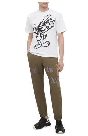 Мужская хлопковая футболка DOMREBEL белого цвета, арт. GRANDE/T-SHIRT | Фото 2