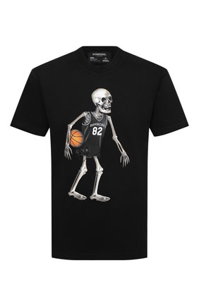 Мужская хлопковая футболка DOMREBEL черного цвета, арт. SKELEBALL/T-SHIRT | Фото 1