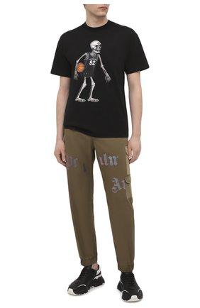 Мужская хлопковая футболка DOMREBEL черного цвета, арт. SKELEBALL/T-SHIRT | Фото 2