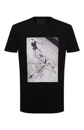 Мужская хлопковая футболка LIMITATO черного цвета, арт. TAN/T-SHIRT | Фото 1