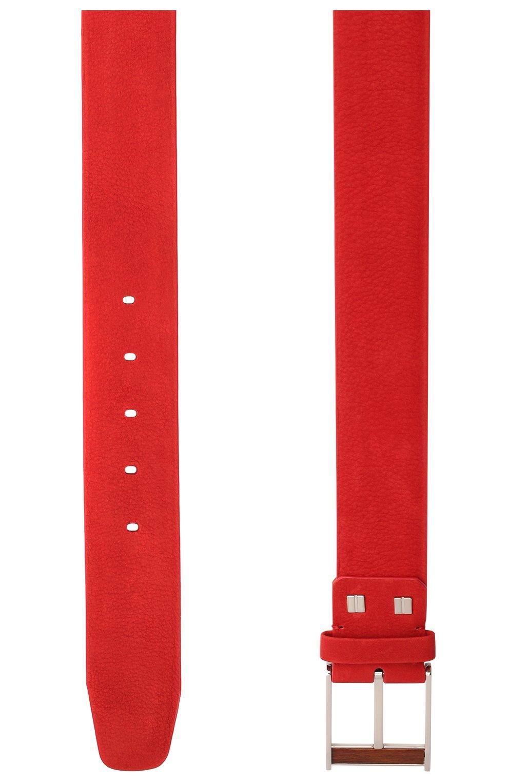 Мужской кожаный ремень ZILLI красного цвета, арт. MJL-CLAQE-01980/0057 | Фото 2