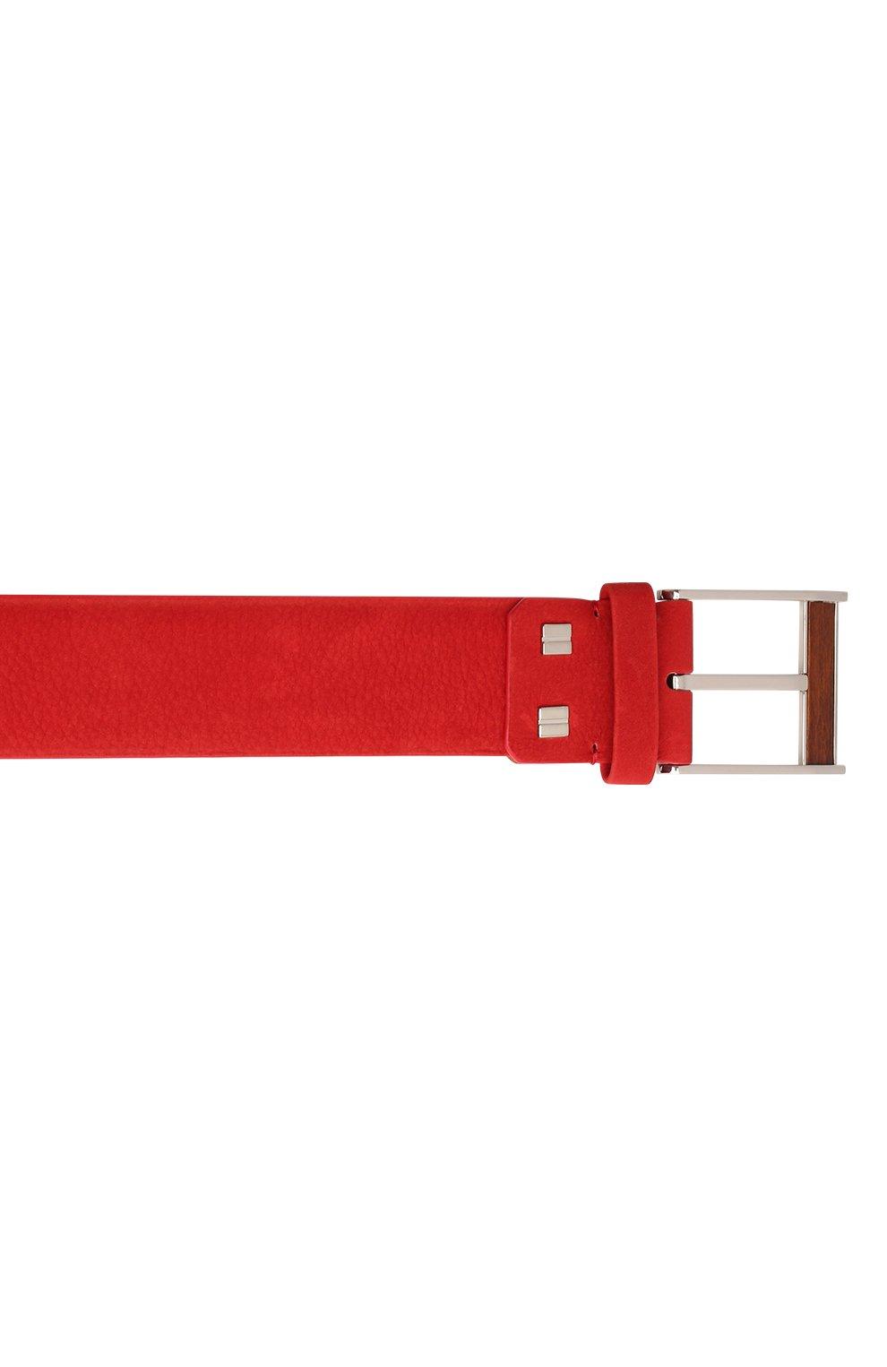 Мужской кожаный ремень ZILLI красного цвета, арт. MJL-CLAQE-01980/0057 | Фото 3