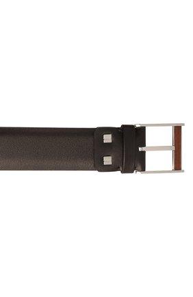 Мужской кожаный ремень ZILLI коричневого цвета, арт. MJL-CLAQE-01030/0057 | Фото 3 (Случай: Формальный)