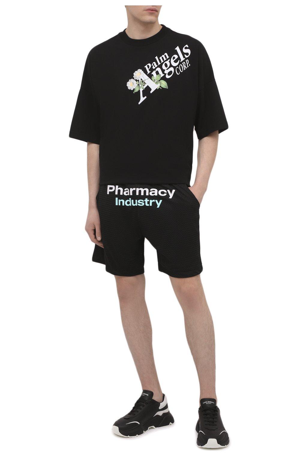 Мужские шорты PHARMACY INDUSTRY черного цвета, арт. PHM230   Фото 2