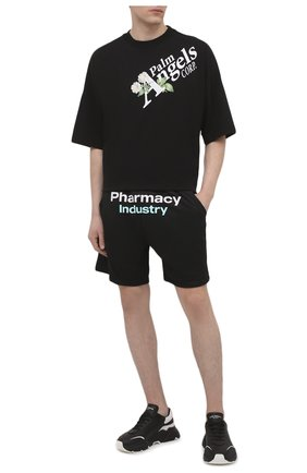 Мужские шорты PHARMACY INDUSTRY черного цвета, арт. PHM230 | Фото 2