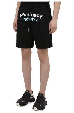 Мужские шорты PHARMACY INDUSTRY черного цвета, арт. PHM230   Фото 3